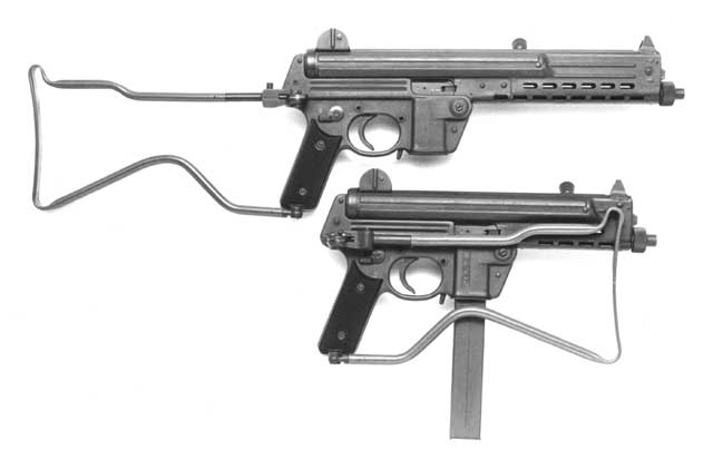 Walther MPL (top) and MPK
