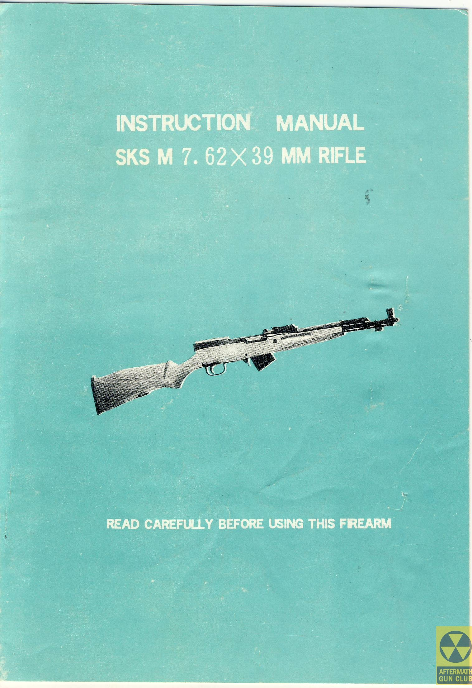 Norinco SKS-M manual 0 cover