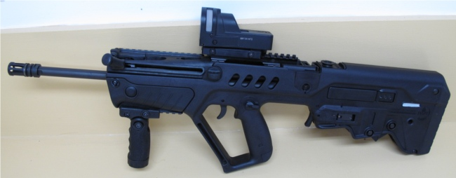 Tavor with rail