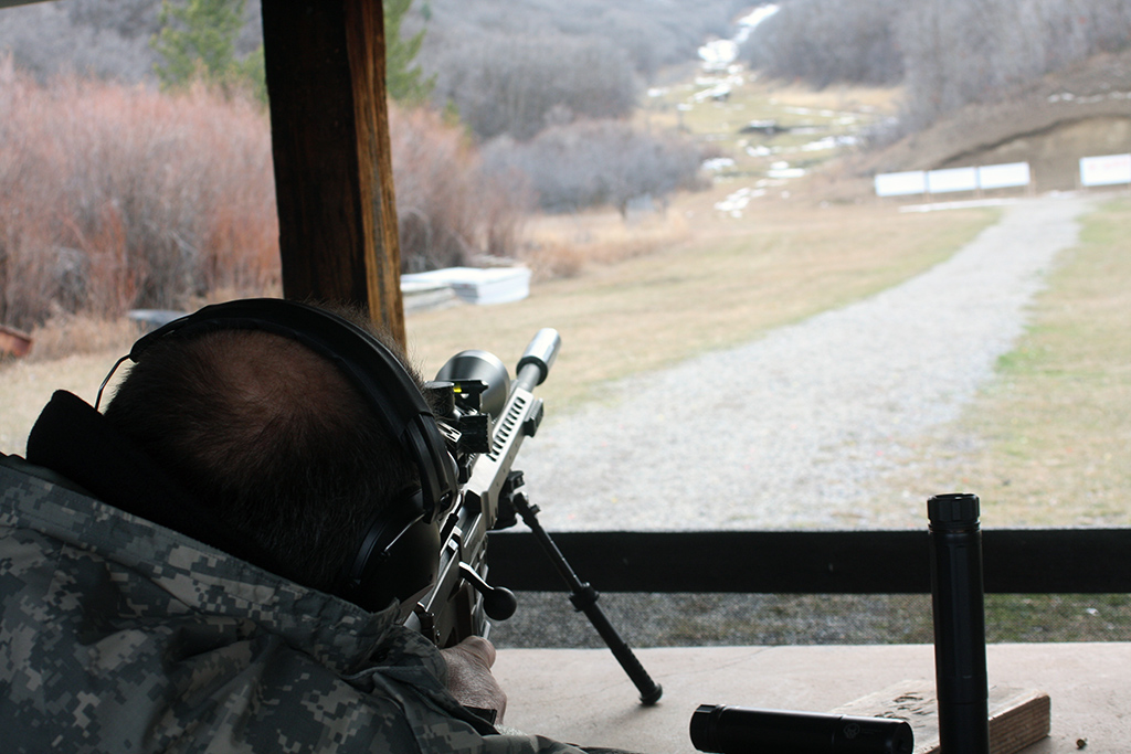 Mike Pappas behind the MRAD
