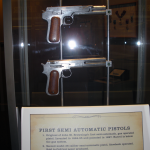 Browning patent year 1897 pistol and Colt .38 second model (never produced)