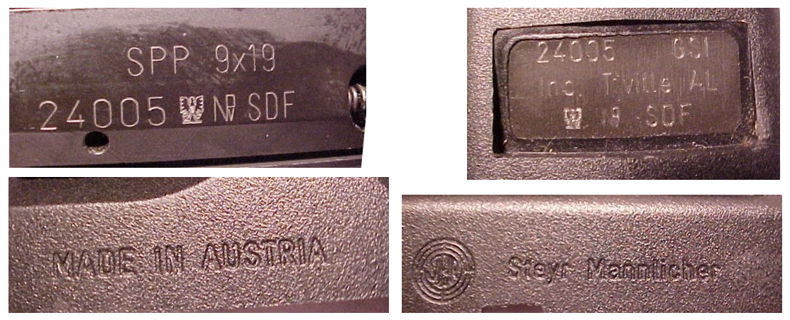 Steyr SPP SDF markings